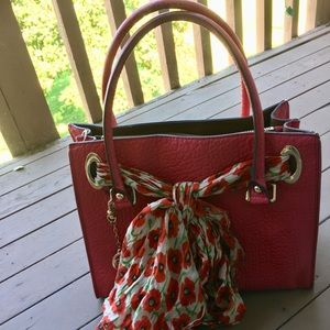 DKNY purse, dark pink, used
